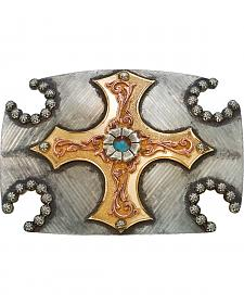 Montana Silversmiths Cross & Horseshoe Buckle