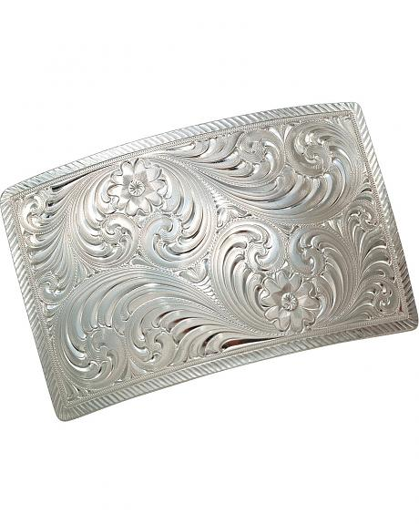 Montana Silversmiths Floral & Scroll Engraved Buckle