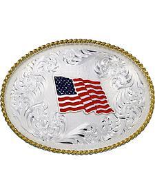 Montana Silversmiths American Flag Oval Buckle
