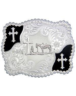 Montana Silversmiths Cowboy & Crosses Buckle