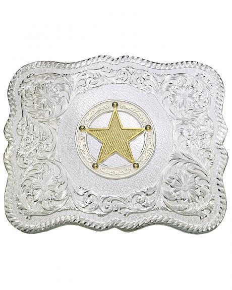 Montana Silversmiths Gold-Tone Star & Scroll Buckle