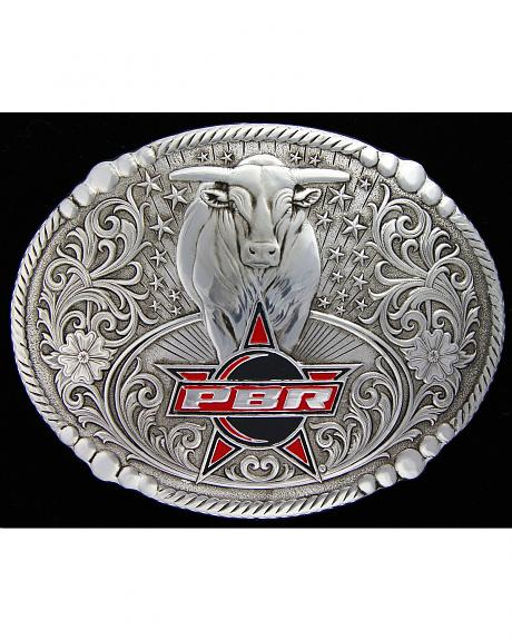 Montana Silversmiths PBR Antiqued Bull Buckle