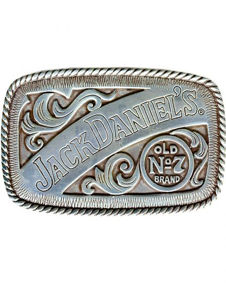 Jack Daniel's Antiqued Silver Old No. 7 Brand Logo Buckle