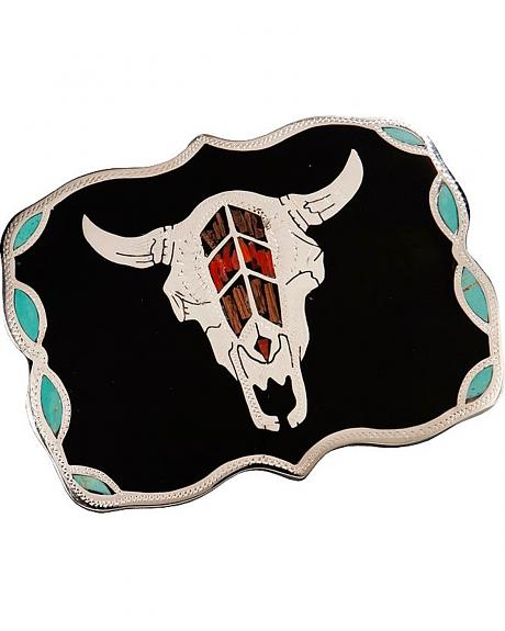 Steer Skull Belt Buckle