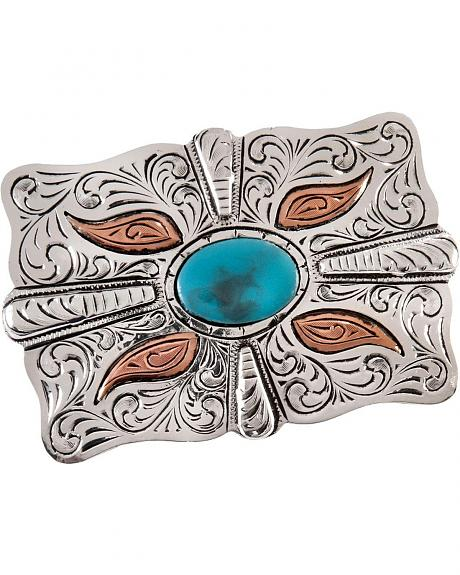 Stetson Craftsman's Alliance Limited Edition Shane Hendren Faux Turquoise Buckle