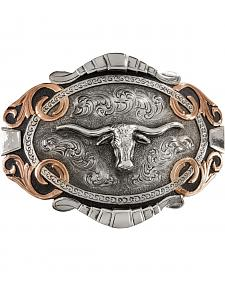 Stetson Two-Tone Longhorn Buckle