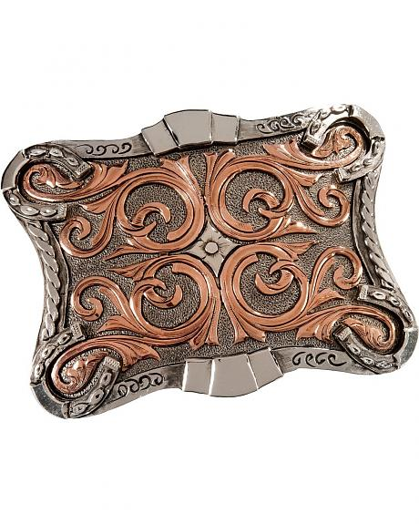 Stetson Two-Tone Scroll Design Buckle