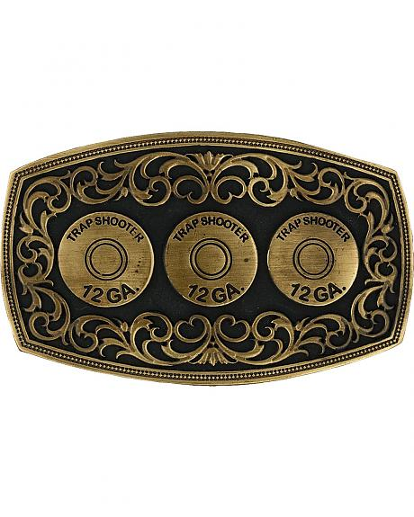 Montana Silversmiths 12 Gauge Trapshooter Shell Buckle