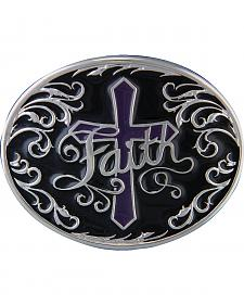 Montana Silversmiths Deep Faith Attitude Cross Buckle