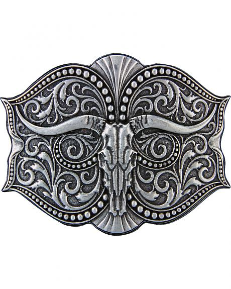 Montana Silversmiths Antiqued Longhorn Buckle
