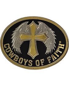Montana Silversmiths Cowboys of Faith Belt Buckle