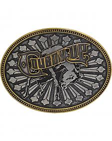 Montana Silversmiths Cowboy Up Belt Buckle