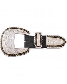 Montana Silversmiths Barbed Wire 3-Piece Belt Buckle Set