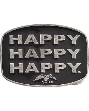 Montana Silversmiths Duck Commander Happy Happy Happy Belt Buckle