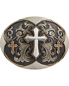 Stetson Hand-Engraved Three Cross Buckle