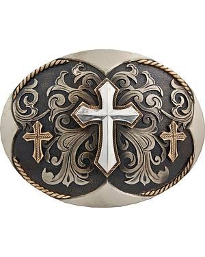 Stetson Hand-Engraved Three Cross Buckle