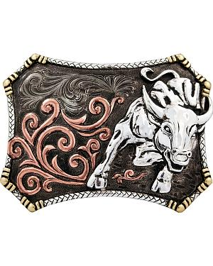 Stetson Hand-Engraved Bull Buckle