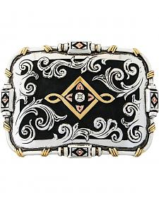 Stetson Hand-Engraved Tri-Color Filigree Buckle