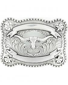Nocona Filigree & Stars Longhorn Belt Buckle