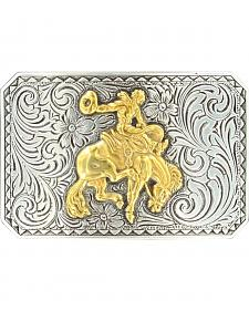 Nocona Cowboy & Bucking Bronco Belt Buckle