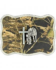 Nocona Camo Cowboy Prayer Belt Buckle