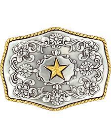 Nocona Silver-tone & Gold-tone Star Buckle