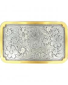 Nocona Scroll & Gold-tone Trim Buckle
