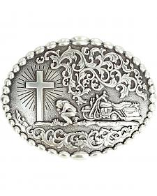 Nocona Motorcycle Prayer Scroll Buckle