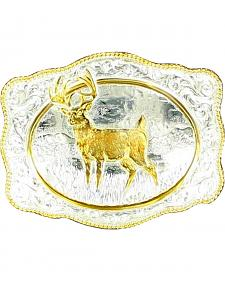 Gold-tone White Tail Deer Buckle