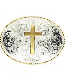 Engraved Cross Belt Buckle