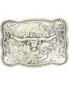Engraved Longhorn Belt Buckle