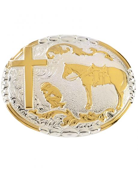 Crumrine Cowboy Prayer Buckle