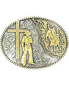 Crumrine Bull Rider & Cross Cowboy Buckle