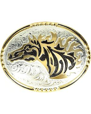 Crumrine Windstorm Horse Head Buckle