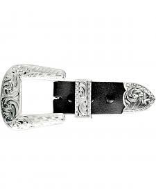 Crumrine Silver-tone Engraved Buckle Set