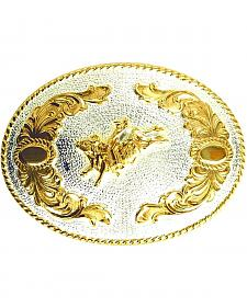 Bull Rider Motif Belt Buckle
