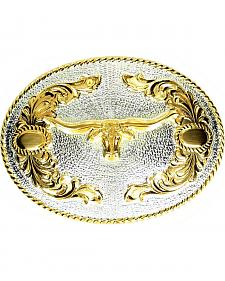 Longhorn Motif Belt Buckle