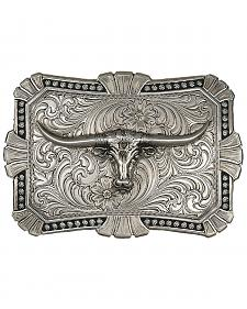 Montana Silversmiths Engraved Longhorn Buckle