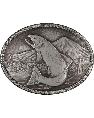 Montana Silversmiths Gunmetal Outdoor Series Wild Trout Carved Buckle Western & Country 25610FMA