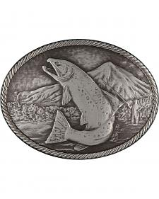 Montana Silversmiths Gunmetal Outdoor Series Wild Trout Carved Buckle
