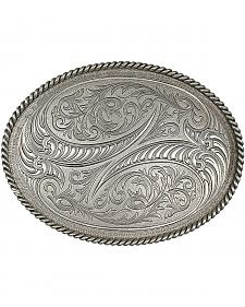 Montana Silversmiths Special Edition Antiqued Engraved Etched Horns Buckle