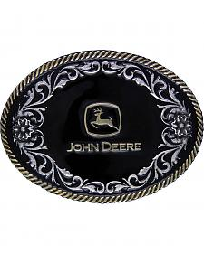 John Deere Two-Tone Rope Edged Garden Attitude Buckle