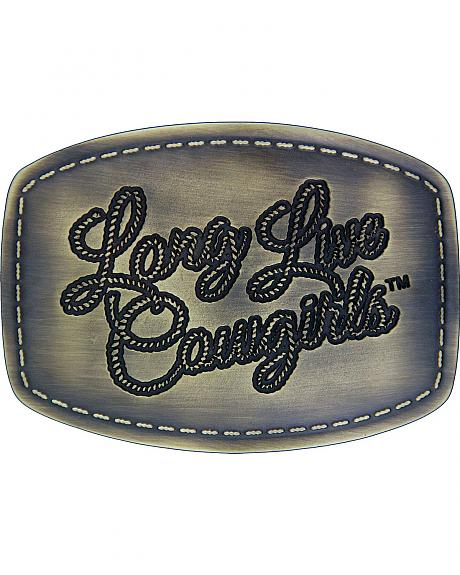 Wrangler Long Live Cowgirls Patch Attitude Buckle
