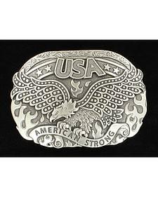 Nocona American Strong Eagle Silver Buckle