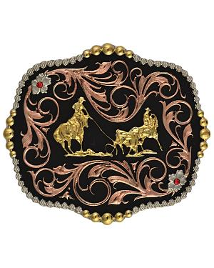 Montana Silversmiths Tri-Color Bullrider Traditional Attitude Buckle