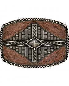 Rock 47 by Montana Silversmiths Points of Aztec Step Pyramid Attitude Buckle