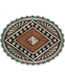 Rock 47 by Montana Silversmiths Points of Aztec Copper Pyramid Attitude Buckl