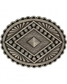 Rock 47 by Montana Silversmiths Points of Aztec Silver Pyramid Attitude Buckl