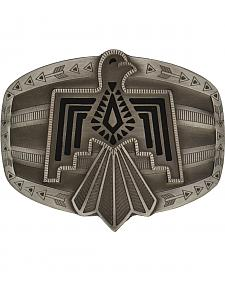 Rock 47 by Montana Silversmiths Tribal Flair Silver Phoenix Attitude Buckle