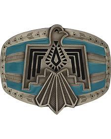 Rock 47 by Montana Silversmiths Tribal Flair Blue Phoenix Attitude Buckle